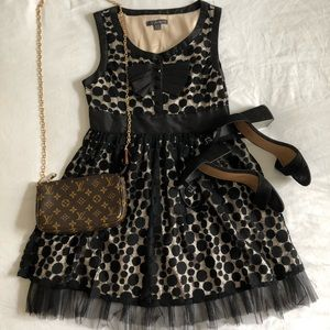 Forever 21 Black Dress with Polka Dots